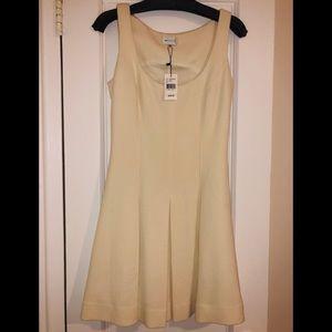 Milly pleated skirt minidress.